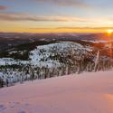 šumava - svítání z Luzného