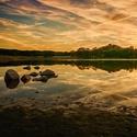 Západ slunce za Vysokým Chlumcem