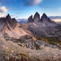 Soumrak nad Dolomity