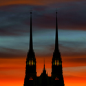 Katedrála při západu