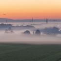 Olomouc pod mlhou