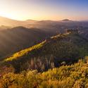 Východ slunce na Mariině vyhlídce v NP České Švýcarko
