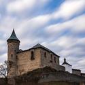 Rychlé mraky nad hradem Kunětická hora