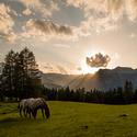 západ v Alpách