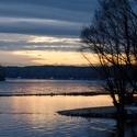 Vecer na sutoku Dunaja a Moravy