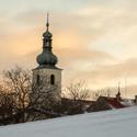 Zimní věž kostelu