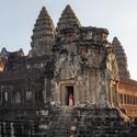 V chrámu Angkor Wat