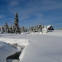 U Jeřábkovny v zimě.