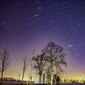Pohyb hvězd a světelný smog nad Ostravou