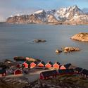 Norské červené domečky