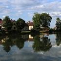 Rybník v Močeradech.