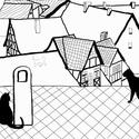Kočky na střeše