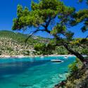 Řecký ostrov Thassos - pláž Aliki