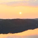 Západ slunce nad Vranovskou přehradou