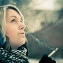 jedna zimní cigaretka..