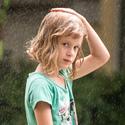 Portrét v dešti