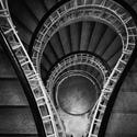 Černobílé schody