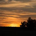 Západ slunce v Líšni