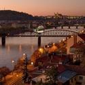 Podzimní podvečer z Vyšehradu