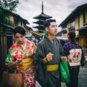 Novomanželé v Kyotu