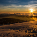 Východ slunce na Pradědu
