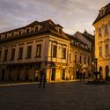 Bratislava při západu