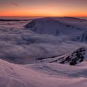 Sněžka - po západu slunce