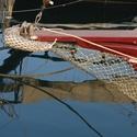 Příď staré dřevěné plachetnice