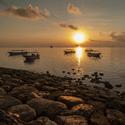 východ slunce v Nusa Dua na Bali