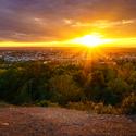 Západ slunce nad Ostravou