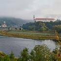 Děčínský zámek v ranním oparu
