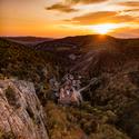 Západ slunce ve Svatém Janu pod Skalou
