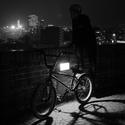 Night biker life