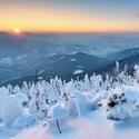 Zimní západovka z Lysé