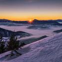 Východ slunce z Osnice