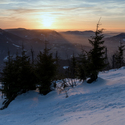 sobotní západ z Lysé hory