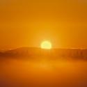 Radhošť a  východ slunce