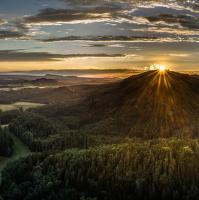 Západ slunce za Čertovkou