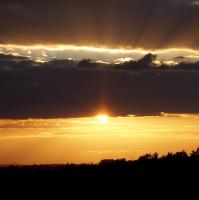 Západ slunce u Hodkovického letiště.