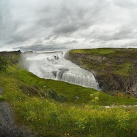 obrázky z islandské přírody 27 aneb ... Gullfos rybím okem