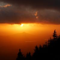 Ralsko před západem slunce