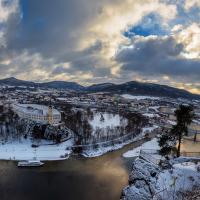 zimní Děčín