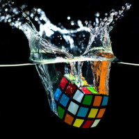 Cube underwater