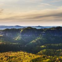 Panorama Šrámových kamenů z Kipphornu
