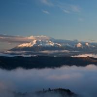 Krásny a úžasný pohľad z Vysoké Skalky