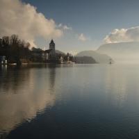 Wolfganské jezero, mrazivé ráno :-)