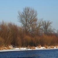 Zima na brehu Váhu