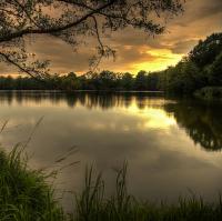 Západ slunce Vodňany