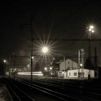 Přijíždějící rychlík Tábor - Plzeň