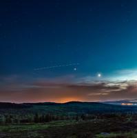 Noční lesy Brdské...... ufo na obzoru